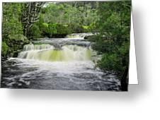 Waterfall In Cradle Mountain Greeting Card