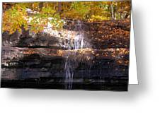 Waterfall In Creve Coeur Greeting Card