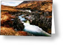 Waterfall In Glencoe Greeting Card