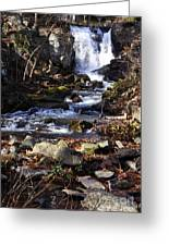 Waterfall In Kent Greeting Card