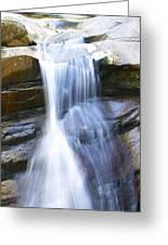 Waterfall In Nh Greeting Card