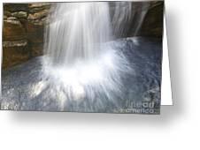 Waterfall In Nh Splash 3 Greeting Card