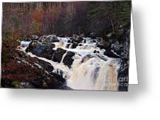 Waterfall In Scotland Greeting Card