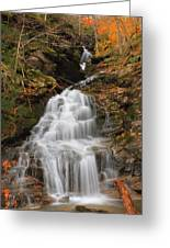 Waterfall In Smugglers Notch Greeting Card
