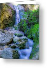 Waterfall In Soft Dream. Greeting Card