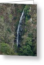 Waterfall In The Intag 3 Greeting Card