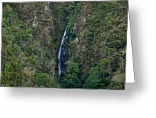 Waterfall In The Intag 5 Greeting Card