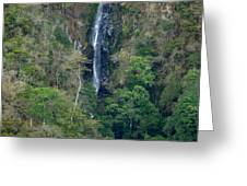 Waterfall In The Intag 6 Greeting Card