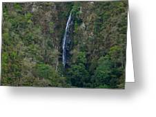 Waterfall In The Intag Greeting Card