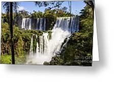 Waterfall In The Jungle Greeting Card