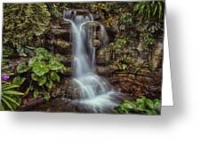 Waterfall In The Opryland Hotel Greeting Card