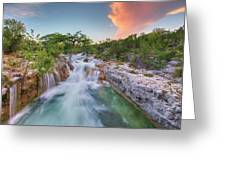 Waterfall In The Texas Hill Country 3 Greeting Card