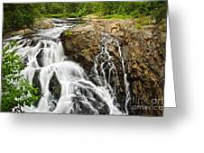 Waterfall In Wilderness Greeting Card