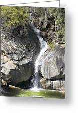 Waterfall Into The Feather River Greeting Card