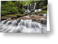Waterfall Jocassee Gorges Upcountry South Carolina Greeting Card