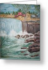 Waterfall Lw Greeting Card