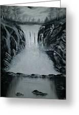 Waterfall Of Life Greeting Card