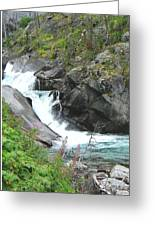 Waterfall Of Paradise Greeting Card