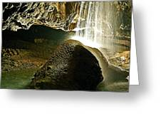 Waterfall Of The Caverns Greeting Card