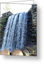 Waterfall Of The Grist Mill Greeting Card