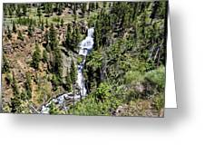 Waterfall On Lava Creek 2 Greeting Card