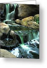 Waterfall On Maui Greeting Card