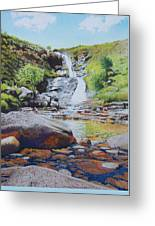Waterfall On Skye 2 Greeting Card