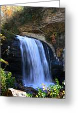 Waterfall On The Cliff Edge Greeting Card