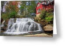 Waterfall Painting Greeting Card