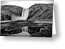 Waterfall Reflections Greeting Card