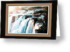 Waterfall Scene For Mia Parker - Sutcliffe L A S With Decorative Ornate Printed Frame.  Greeting Card