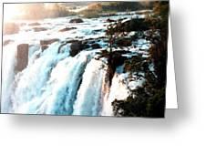 Waterfall Scene For Mia Parker - Sutcliffe L B Greeting Card