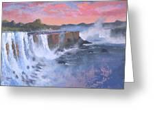 Waterfall Study Greeting Card