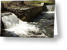 Waterfall Times Two Greeting Card