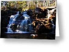 Waterfall, Whitewall Brook Greeting Card