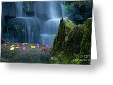Waterfall02 Greeting Card by Carlos Caetano