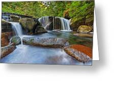 Waterfalls At Sweet Creek Falls Trail Greeting Card
