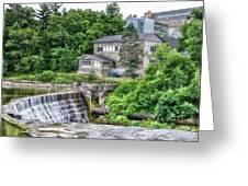 Waterfalls Cornell University Ithaca New York 04 Greeting Card