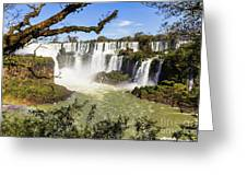 Waterfalls In Frame Greeting Card
