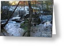 Waterfalls In Morning Greeting Card
