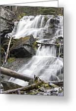 Waterfalls Of Lost Creek Greeting Card by Dana Moyer