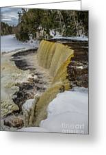 Waterfalls Upper Tahquamenon -6049 Pure Michigan Greeting Card