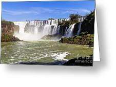 Waterfalls Wall Greeting Card