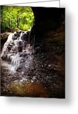 waterfallScoop Greeting Card