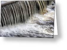 Waterflow Waterfall On A Small Creek Greeting Card