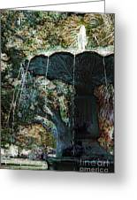 Waterfountain In Charleston Park Greeting Card