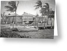 Waterfront Cottages At Parmer's Resort In Keys Greeting Card