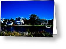 Waterfront Homes Mystic Seaport Greeting Card