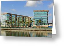 Waterfront Hotel Greeting Card