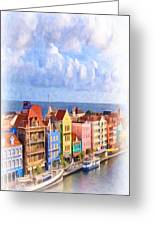 Waterfront Houses Greeting Card